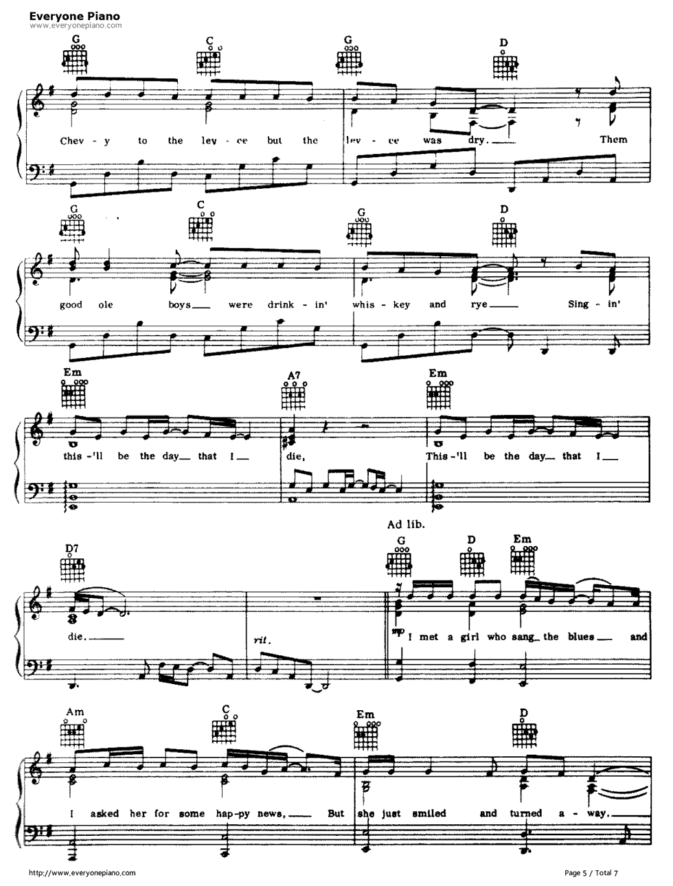 American pie don mclean stave preview 5 free piano sheet music listen now print sheet american pie don mclean stave preview 5 hexwebz Gallery