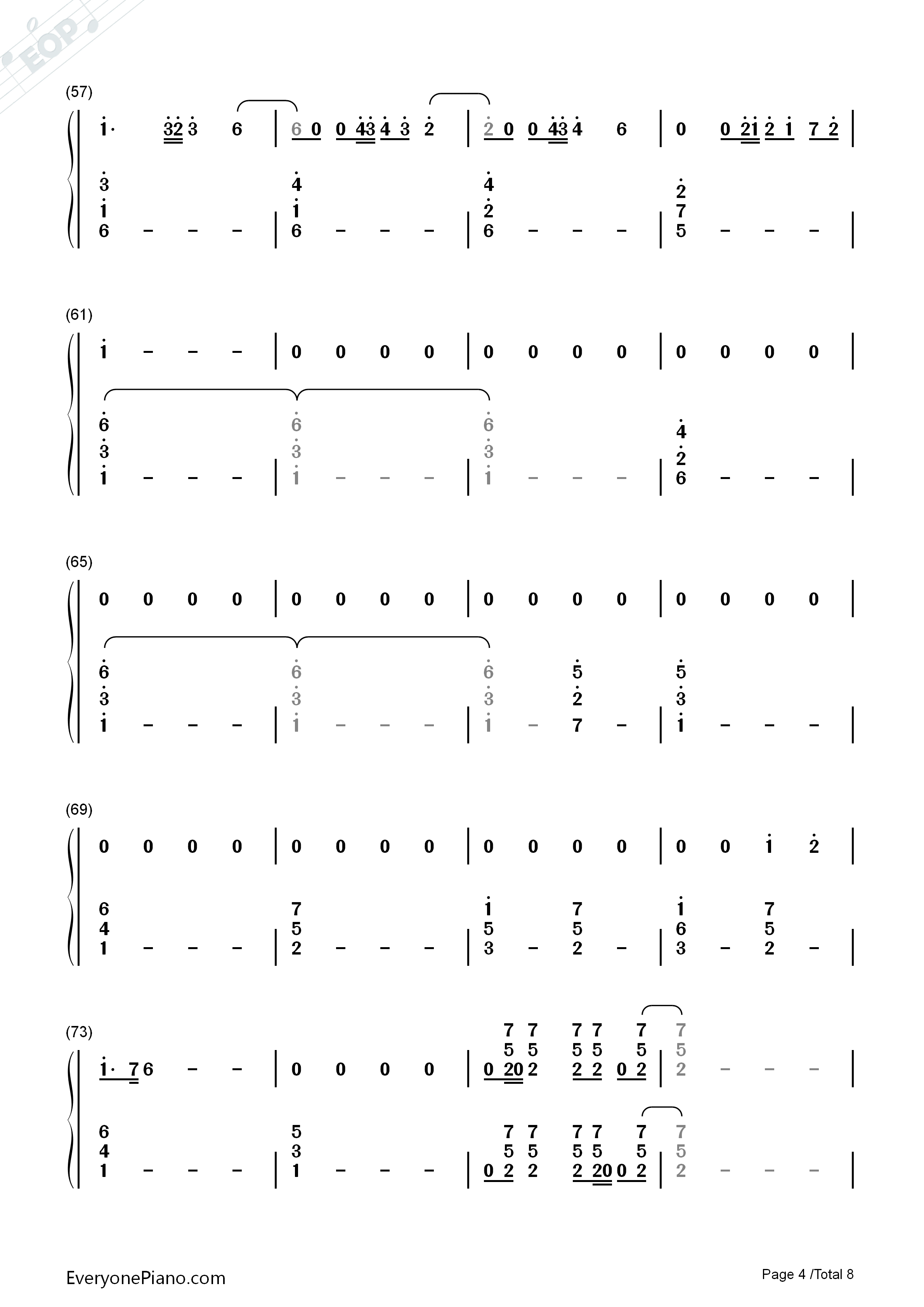 The final countdown europe numbered musical notation preview 4 listen now print sheet the final countdown europe numbered musical notation preview 4 hexwebz Gallery