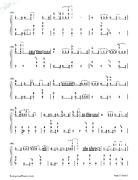 Blue Moon-Richard Rodgers Lorenz Hart Numbered Musical Notation Preview 3