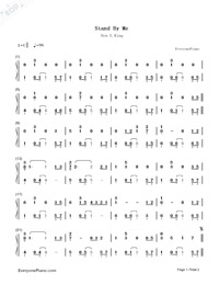 Stand by Me-Ben E. King-Numbered-Musical-Notation-Preview-1