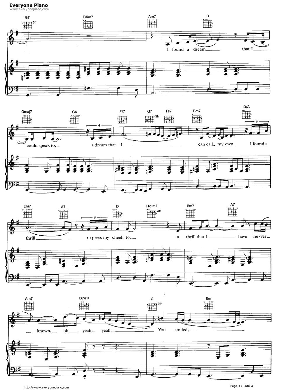 at last free piano sheet music pdf