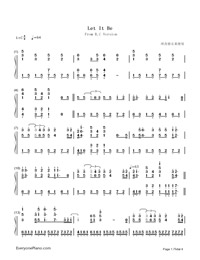Let It Be-Richard Clayderman-Numbered-Musical-Notation-Preview-1