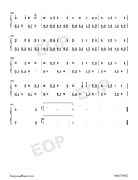 Spring Snow-BlackHeaven-Numbered-Musical-Notation-Preview-2