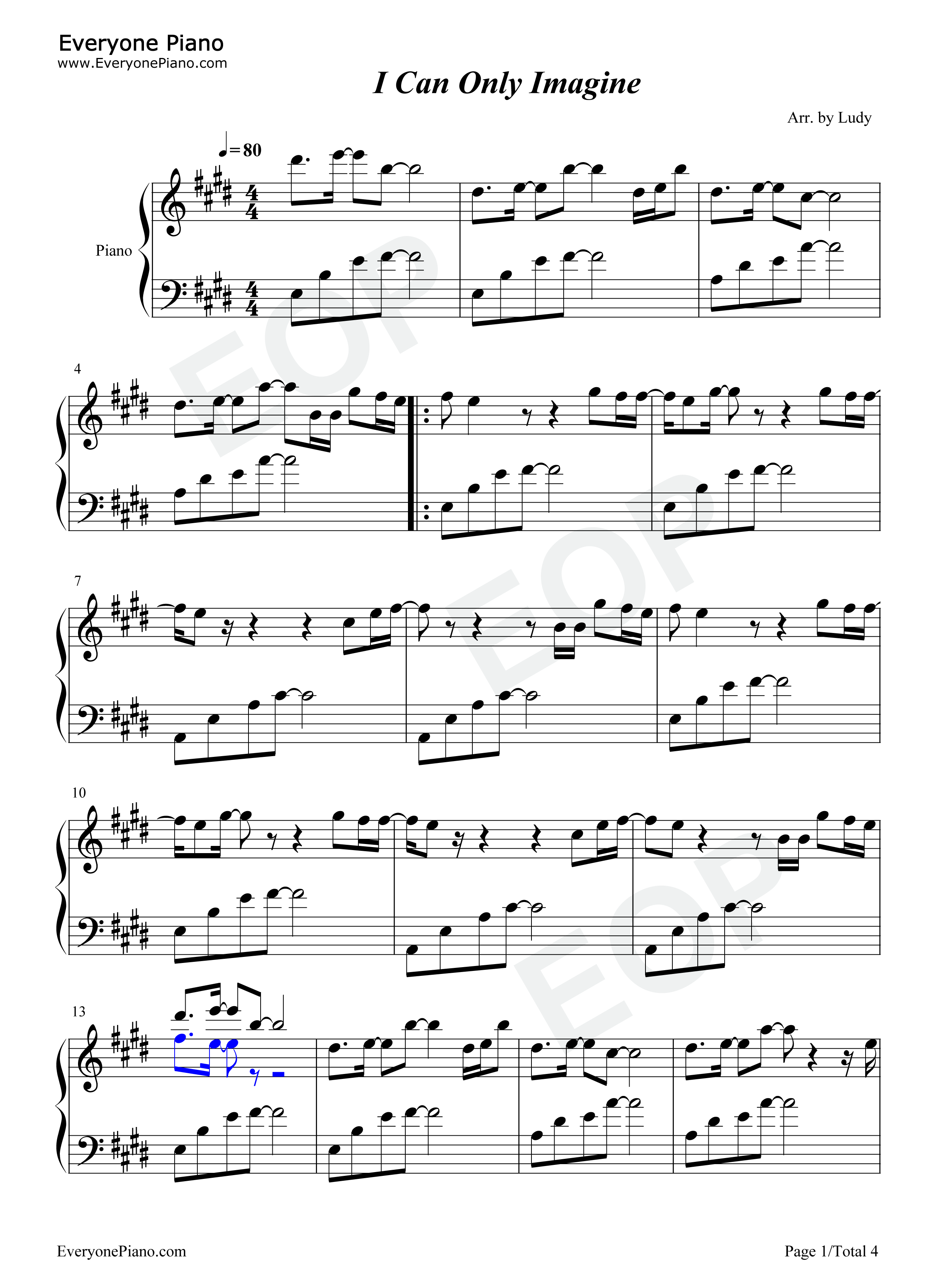 I can only imagine mercyme stave preview 1 free piano sheet music listen now print sheet i can only imagine mercyme stave preview 1 hexwebz Gallery