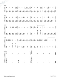 While Your Lips Are Still Red-Lieksa Theme-Nightwish-Numbered-Musical-Notation-Preview-2