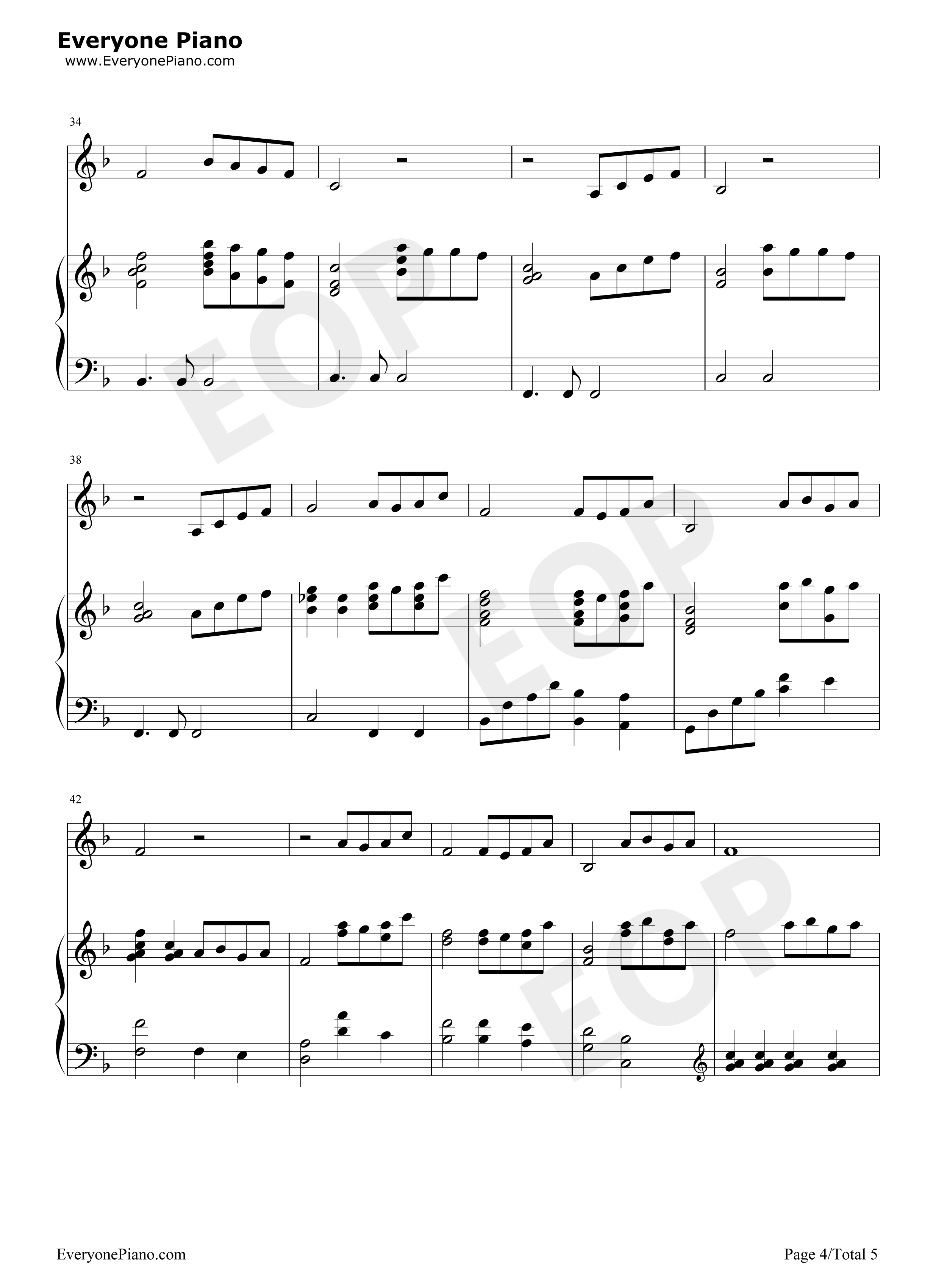 beauty and the beast sheet music free