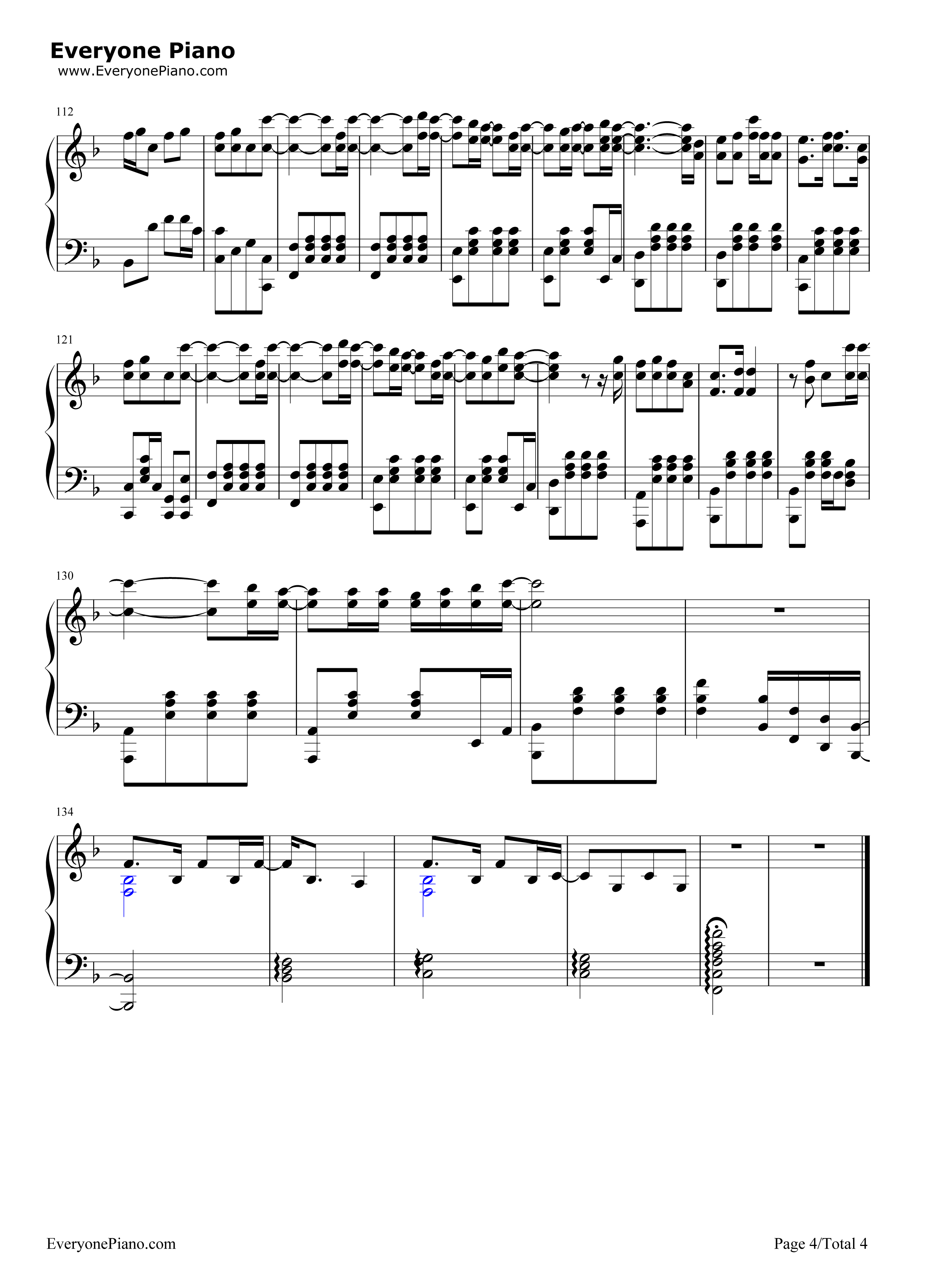Release my soul guilty crown ost stave preview 4 free piano sheet listen now print sheet release my soul guilty crown ost stave preview 4 hexwebz Images