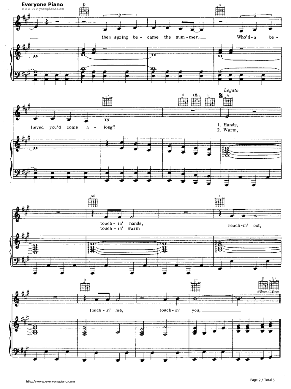 Sweet Caroline-Neil Diamond Stave Preview 2-Free Piano Sheet Music u0026 Piano Chords