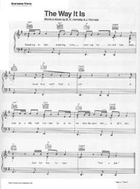 The Way It Is-Bruce Hornsby Free Piano Sheet Music & Piano ... Hornsby Way It Is Piano Youtube
