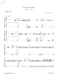 Circle of Life-The Lion King OP-Numbered-Musical-Notation-Preview-1