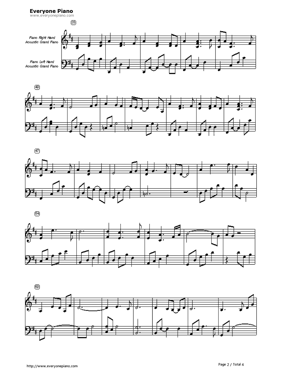 Open arms journey stave preview 2 free piano sheet music piano listen now print sheet open arms journey stave preview 2 hexwebz Images