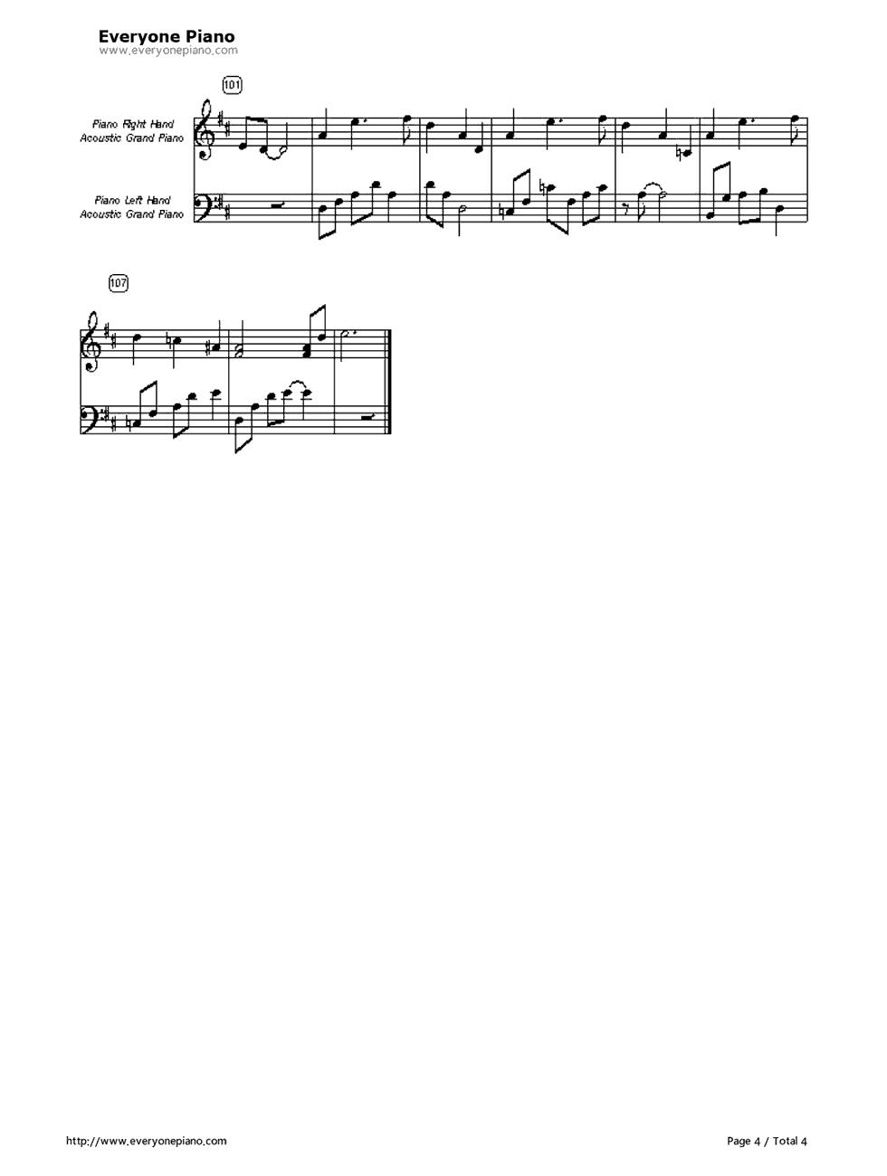 open arms piano sheet music pdf