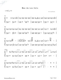 When the Love Falls-Yiruma-Numbered-Musical-Notation-Preview-1