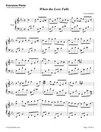 When the Love Falls-Yiruma Stave Preview 1