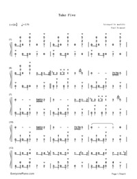 Take Five-Paul Desmond-Numbered-Musical-Notation-Preview-1