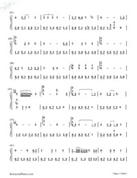 Carrying You-Castle in the Sky ED-Numbered-Musical-Notation-Preview-2