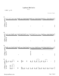 Lyphard Melodie-Richard Clayderman Numbered Musical Notation Preview 1