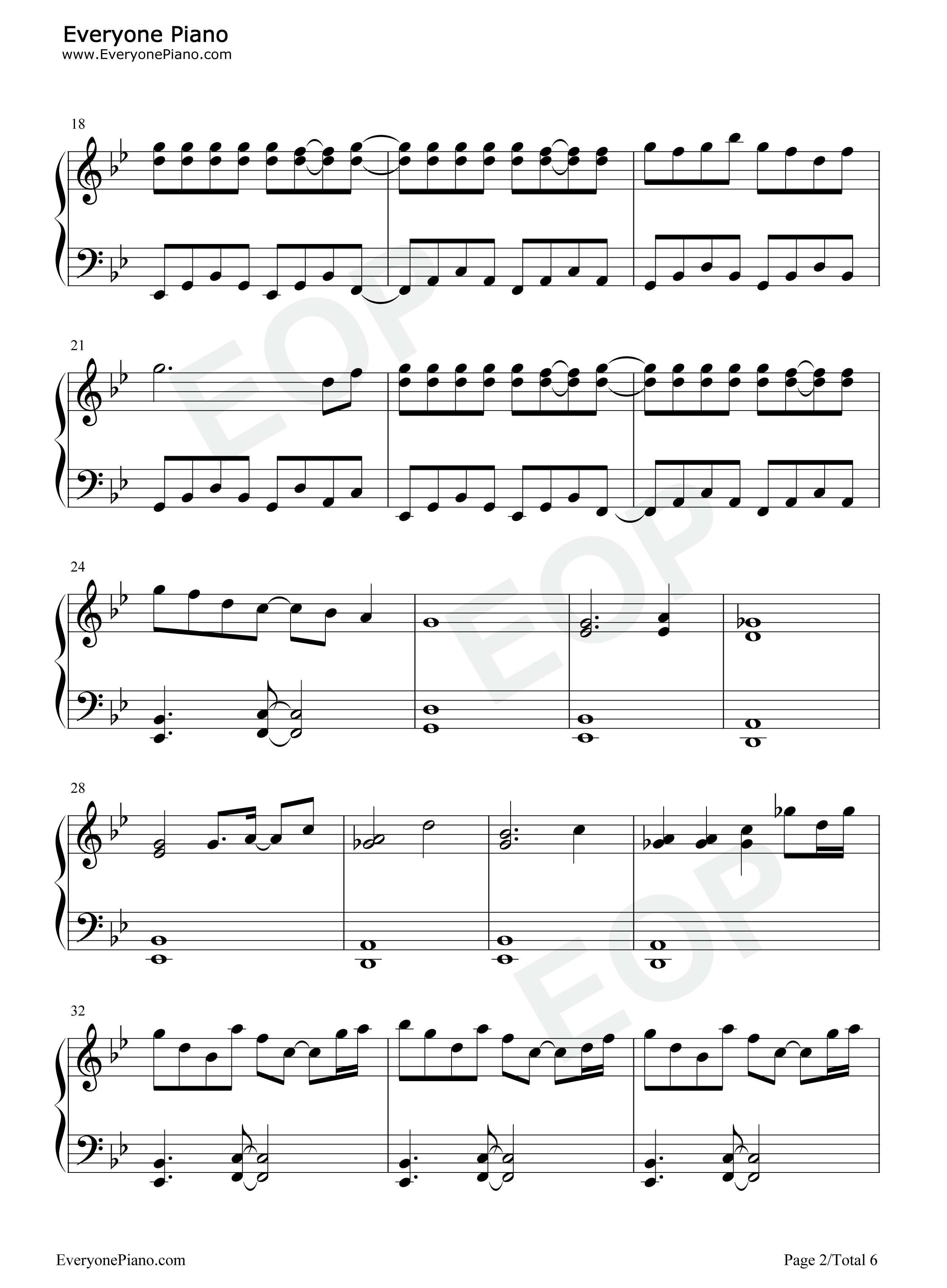 Emotional Skyscraper ~ Cosmic Mind-Touhou Seirensen OST Stave Preview 2-Free Piano Sheet Music ...