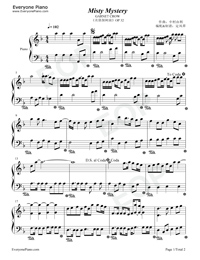 misty piano sheet pdf