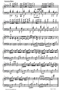Serenade-Fruits Basket ED Free Piano Sheet Music & Piano ...