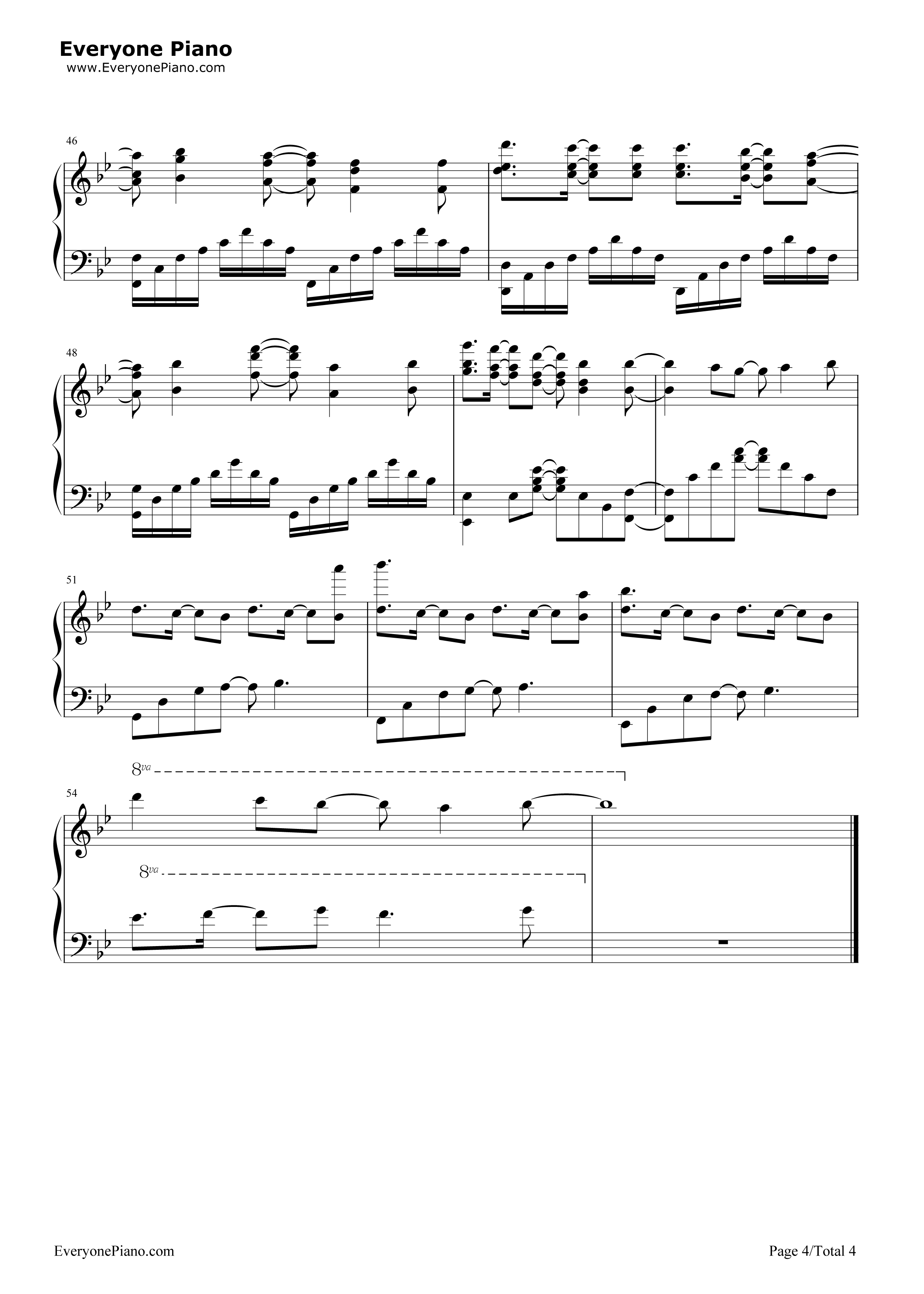 Unravel-Tokyo Ghoul OP Stave Preview 4-Free Piano Sheet Music u0026 Piano Chords