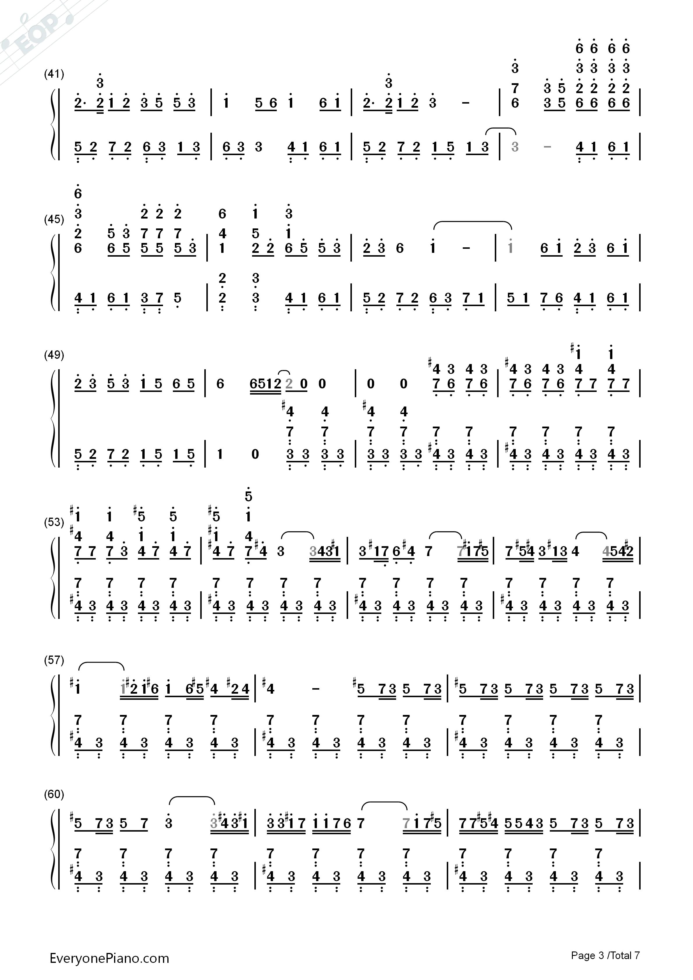Asian dream song sheet music