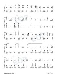 Let It Go-オリジナルに近いバージョン両手略譜プレビュー2