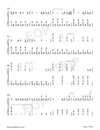 Let It Go-オリジナルに近いバージョン両手略譜プレビュー3