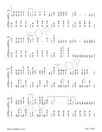Let It Go-オリジナルに近いバージョン両手略譜プレビュー4