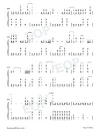 Let It Go-オリジナルに近いバージョン両手略譜プレビュー5