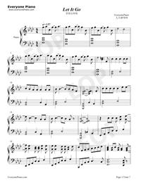 Let It Go-オリジナルに近いバージョン五線譜プレビュー1