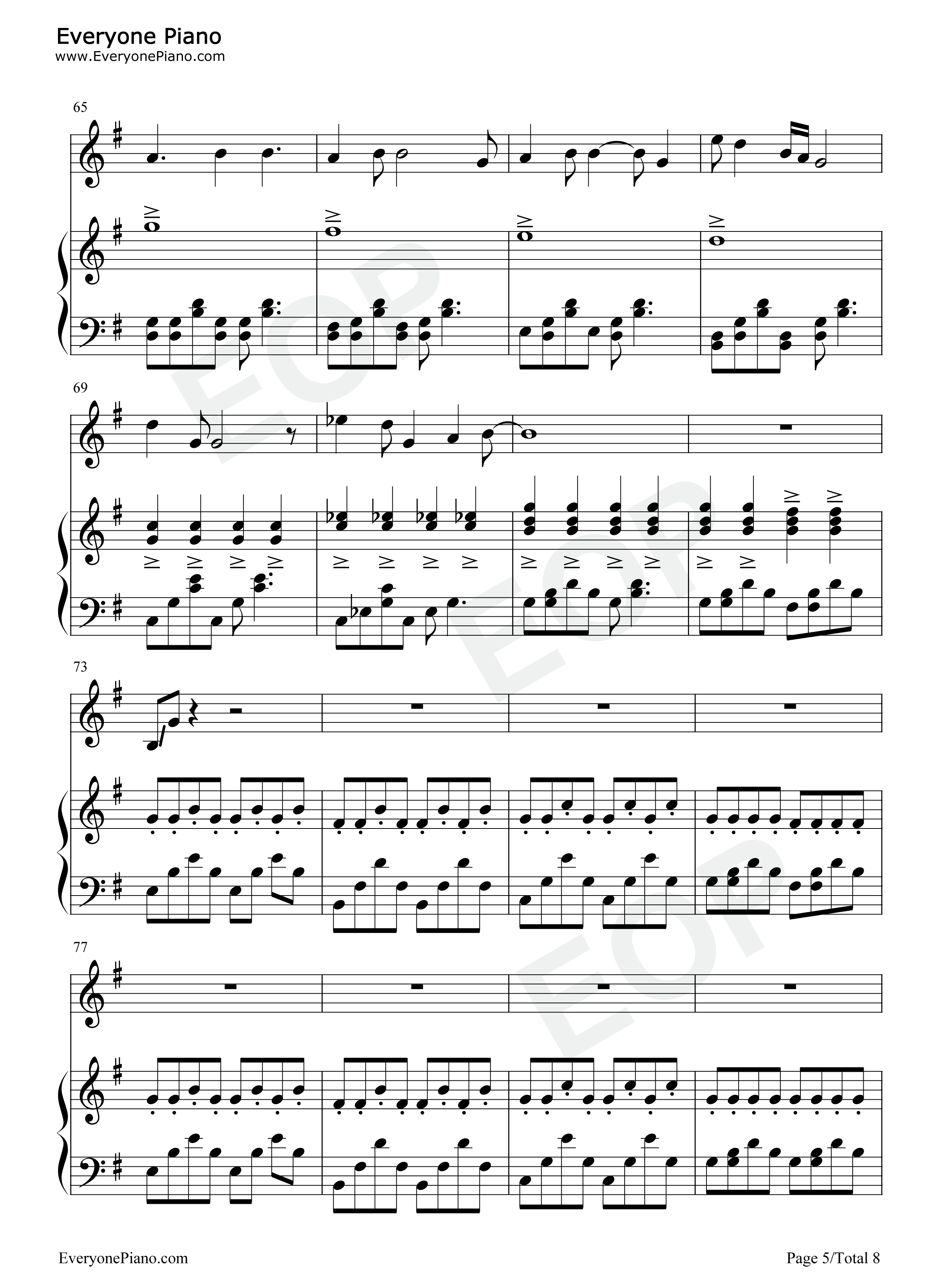 Wake me up when september ends green day free piano sheet music wake me up when september ends green day stave preview 5 hexwebz Gallery