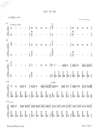Let It Go Accompaniment-the piano guys-Frozen Theme-Numbered-Musical-Notation-Preview-1