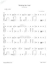 Thinking Out Loud-Ed Sheeran-Numbered-Musical-Notation-Preview-1
