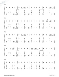 Thinking Out Loud-Ed Sheeran-Numbered-Musical-Notation-Preview-2