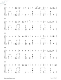 Thinking Out Loud-Ed Sheeran-Numbered-Musical-Notation-Preview-5