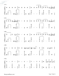 Thinking Out Loud-Ed Sheeran-Numbered-Musical-Notation-Preview-7