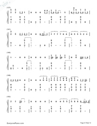 Thinking Out Loud-Ed Sheeran-Numbered-Musical-Notation-Preview-8