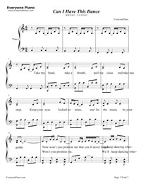Can i have this dance piano sheet music pdf