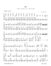 Ray-Bump of Chicken and Hatsune Miku-Numbered-Musical-Notation-Preview-1