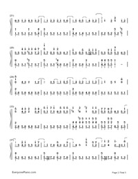 Ray-Bump of Chicken and Hatsune Miku-Numbered-Musical-Notation-Preview-2
