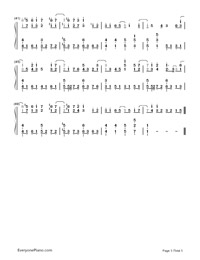 Ray-Bump of Chicken and Hatsune Miku-Numbered-Musical-Notation-Preview-3