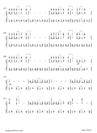 Forrest Gump-Forrest Gump OST Numbered Musical Notation Preview 3