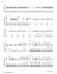 Some Like It Hot!!-Gin Tama ED17-Numbered-Musical-Notation-Preview-3
