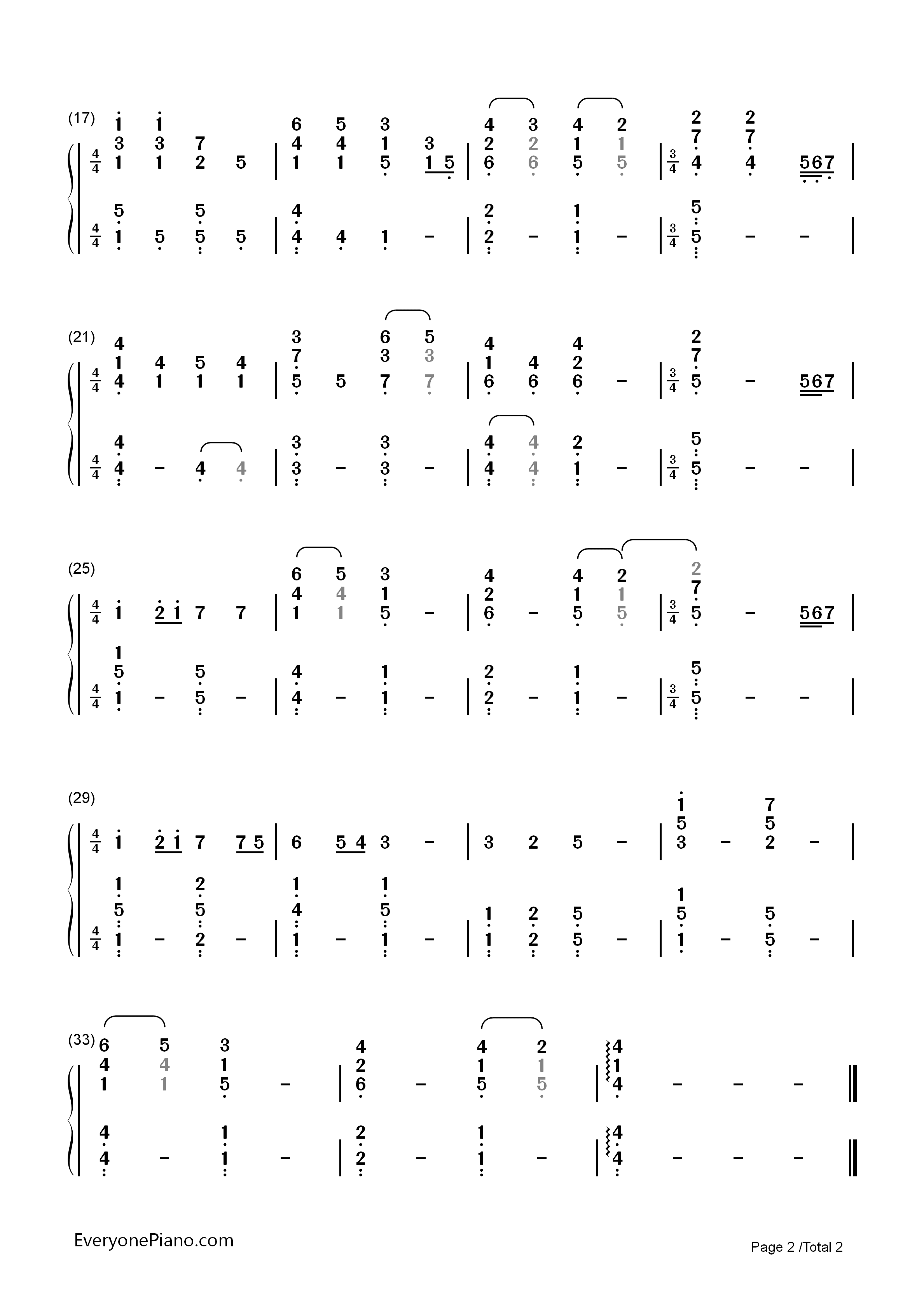 How long will i love you ellie goulding numbered musical notation listen now print sheet how long will i love you ellie goulding numbered musical notation preview 2 hexwebz Image collections