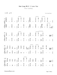 How Long Will I Love You-Ellie Goulding-Numbered-Musical-Notation-Preview-1