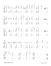 How Long Will I Love You-Ellie Goulding-Numbered-Musical-Notation-Preview-2