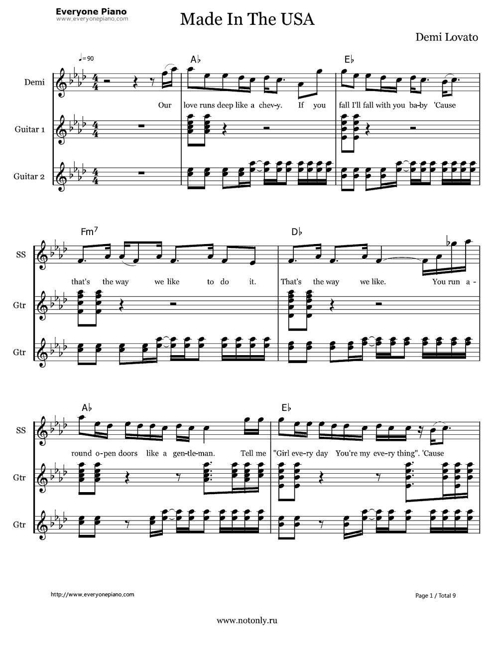 Sober demi lovato guitar tutorial // sober guitar // guitar lesson.