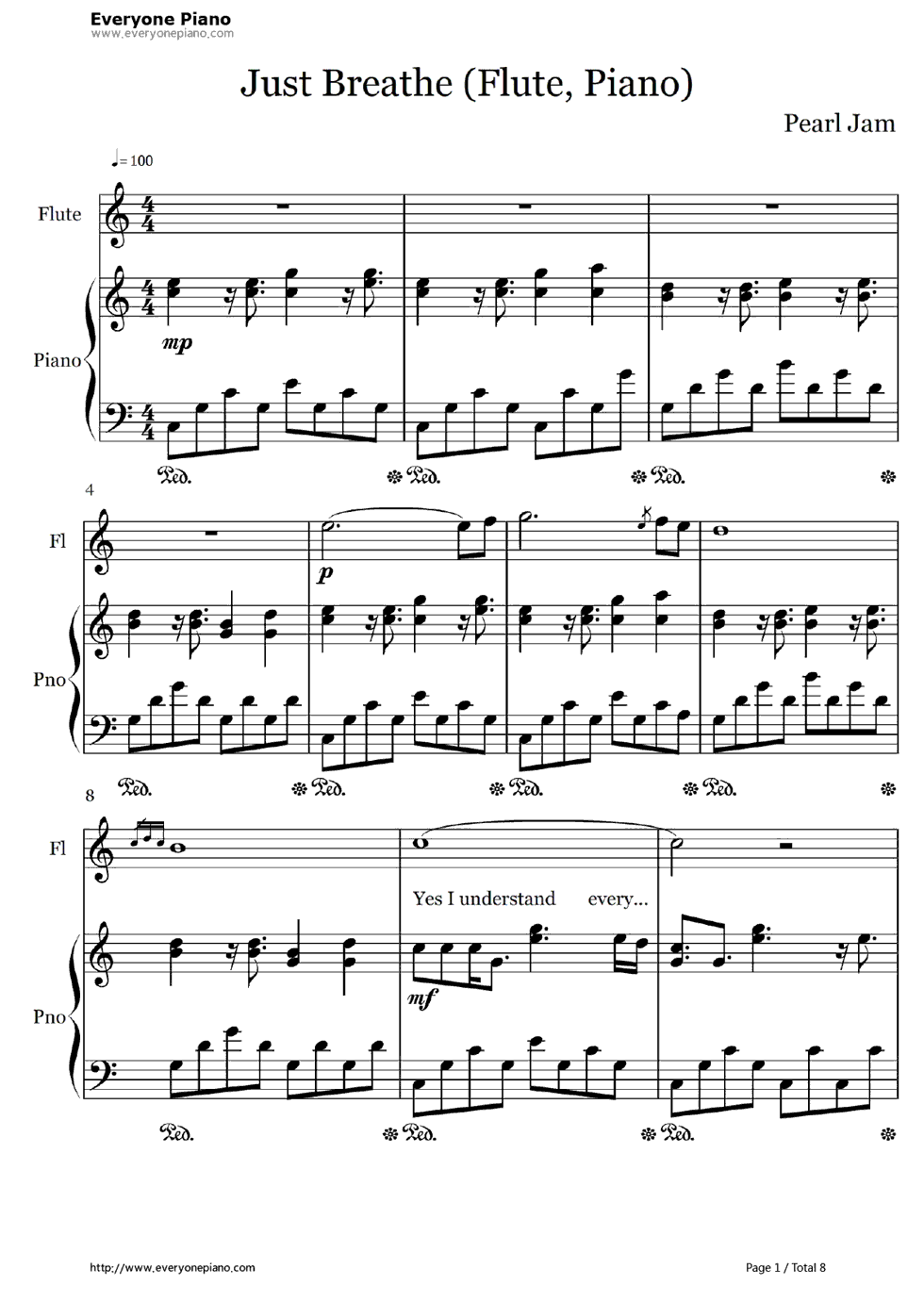 Just breathe pearl jam stave preview 1 free piano sheet music listen now print sheet just breathe pearl jam stave preview 1 hexwebz Choice Image