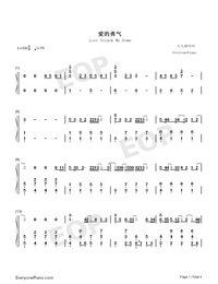 Love Struck Me Down-Divorce Lawyers Theme-Numbered-Musical-Notation-Preview-1